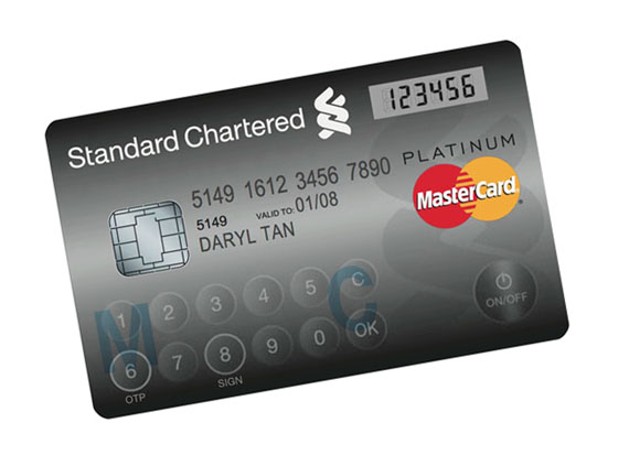 Mastercard LCD Screen with password
