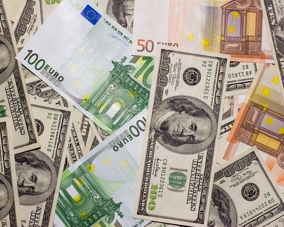 Euros and US Dollars