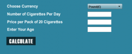 Benefiting by the quit smoking-calculator