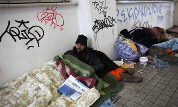 Homeless in Greece